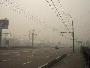Загрязнение воздуха дымом