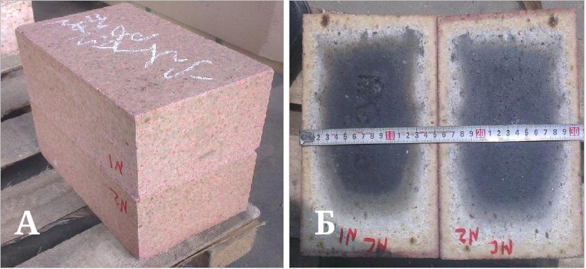 ПУ кирпич после термообработке в окислительной среде